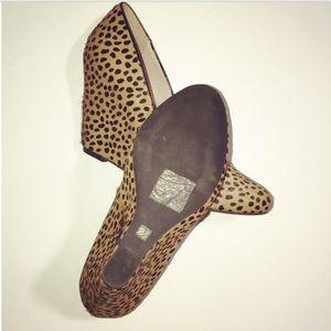 Banana Republic Shoes - BR Calf Hair Maisie Leopard Print Wedges
